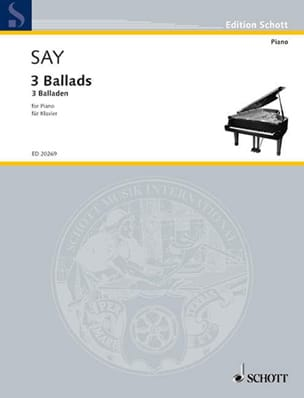 3 Ballads Fazil Say Partition Piano - laflutedepan