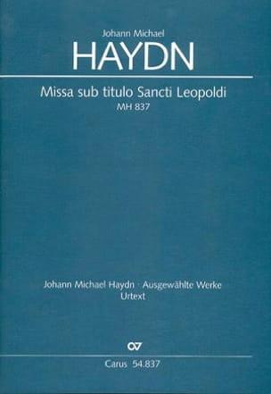 Michael Haydn - Missa sub titulo Sancti Leopoldi MH 837 - Partition - di-arezzo.fr