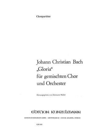 Gloria. Choeur Johann Christian Bach Partition Chœur - laflutedepan