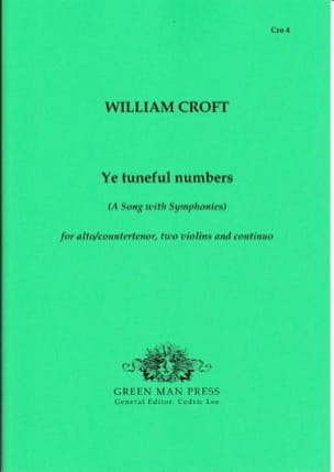 Ye Tuneful Numbers - William Croft - Partition - laflutedepan.com