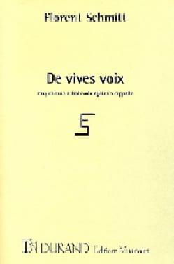 Florent Schmitt - De Vives Voix Opus 131 - Partition - di-arezzo.fr