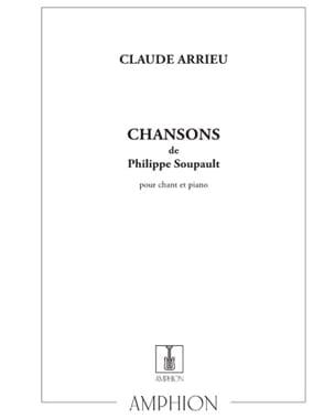Chansons de Philippe Soupault - Claude Arrieu - laflutedepan.com