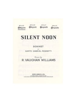 Silent Noon In Db - WILLIAMS VAUGHAN - Partition - laflutedepan.com