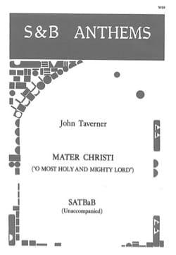 Mater Christi John Taverner Partition Chœur - laflutedepan