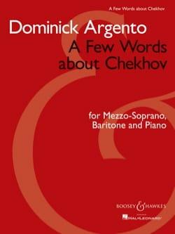 A Few Words About Tchekhov Dominick Argento Partition laflutedepan