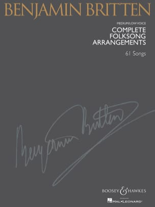 Benjamin Britten - Complete Folksongs Arrangements. Deep voice - Sheet Music - di-arezzo.com