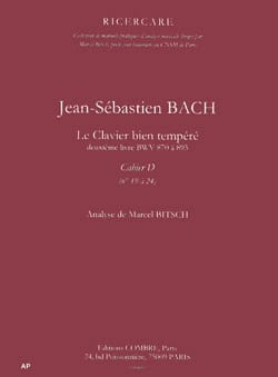 Bach Jean-Sébastien / Bitsch Marcel - The Well Tempered Key Book 2. Notebook D. Analysis - Book - di-arezzo.co.uk