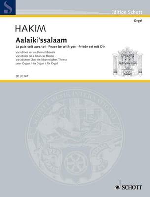 Naji Hakim - Aalaiki'ssalaam - Partition - di-arezzo.fr