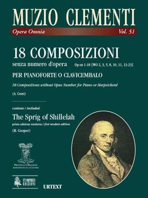 Muzio Clementi - 18 Compositions sans Opus - Partition - di-arezzo.fr