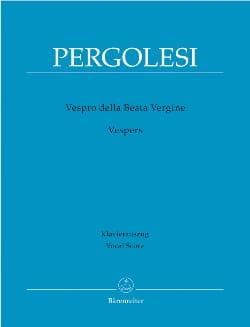 Giovanni Battista Pergolese - Vespro Della Beata Vergine - Partition - di-arezzo.fr