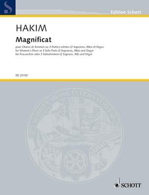 Magnificat Naji Hakim Partition Chœur - laflutedepan