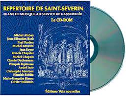Répertoire de Saint-Séverin. Cd Rom - Partition - laflutedepan.com