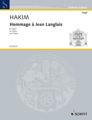 Hommage A Jean Langlais - Naji Hakim - Partition - laflutedepan.com