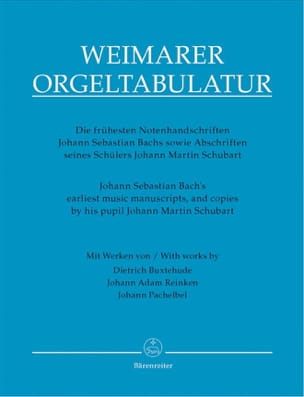 Orgeltablatur Weimarer - J. S. Bach's earliest music manuscripts and copies by his pupil - Partition - di-arezzo.fr
