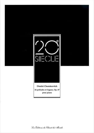 CHOSTAKOVITCH - 24 Preludes and Fugues Opus 87 - Sheet Music - di-arezzo.com