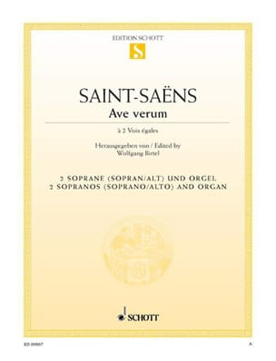Camille Saint-Saëns - Ave Verum. - Sheet Music - di-arezzo.co.uk