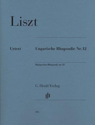 Rhapsodie Hongroise N° 12 LISZT Partition Piano - laflutedepan