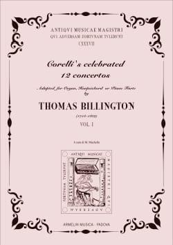 Arcangelo Corelli - 12 Concertos Volume 1 - Partition - di-arezzo.fr