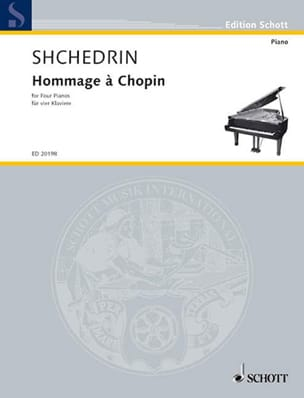 Hommage A Chopin. 4 Pianos - Rodion Chedrin - laflutedepan.com