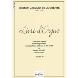 de la Guerre Elisabeth-Claude Jacquet - Livre D'orgue Volume 1 - Partition - di-arezzo.fr