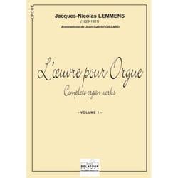 Nicolas-Jacques Lemmens - Oeuvre Pour Orgue Volume 1 - Partition - di-arezzo.fr