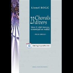 Lionel Rogg - 23 Chorals Divers - Partition - di-arezzo.fr