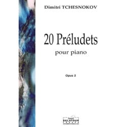 Dimitri Tchesnokov - 20 Préludets Op. 2 - Partition - di-arezzo.fr