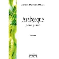 Arabesque Op. 15 Dimitri Tchesnokov Partition Piano - laflutedepan