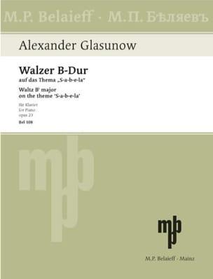 Alexander Glazounov - Walzer Auf Das Thema S-A-B-E-La Op. 23 - Partition - di-arezzo.fr