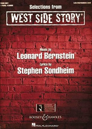 West Side Story. 4 mains BERNSTEIN Partition Piano - laflutedepan