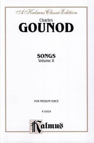Charles Gounod - Songs Volume 2. Voix Moyenne - Partition - di-arezzo.fr
