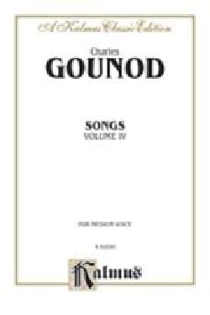 Songs Volume 4. Voix Moyenne GOUNOD Partition Mélodies - laflutedepan
