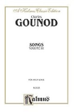 Charles Gounod - Songs Volume 3. High Voice - Sheet Music - di-arezzo.co.uk