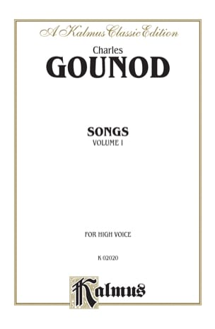 Charles Gounod - Songs Volume 1. High Voice - Partition - di-arezzo.co.uk