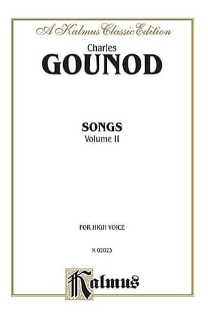 Charles Gounod - Songs Volume 2. Voix Haute - Partition - di-arezzo.fr