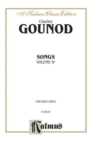 Songs Volume 4. Voix Haute GOUNOD Partition Mélodies - laflutedepan