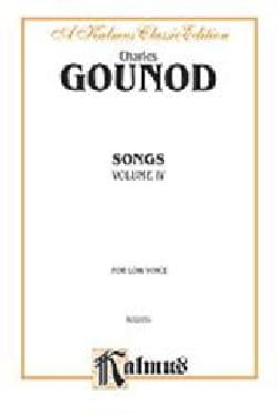Charles Gounod - Songs Volume 4. Voix Grave - Partition - di-arezzo.fr