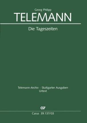 Die Tageszeiten Tvwv 20-39 - Georg Philipp Telemann - laflutedepan.com