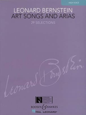 Leonard Bernstein - Art Songs And Arias. Voix Haute - Partition - di-arezzo.fr