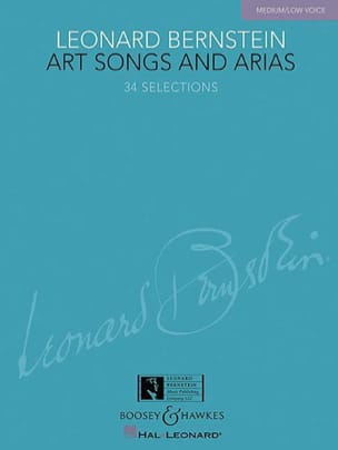 Leonard Bernstein - Art Songs And Arias. Voix Grave - Partition - di-arezzo.fr