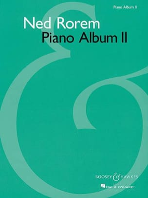 Piano Album 2 Ned Rorem Partition Piano - laflutedepan