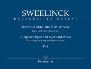 Jan Pieterszoon Sweelinck - Oeuvre pour orgue et clavier Volume 4-1 - Partition - di-arezzo.fr