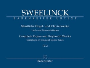 Jan Pieterszoon Sweelinck - Oeuvre pour orgue et clavier Volume 4-2 - Partition - di-arezzo.ch