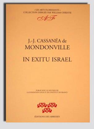 Cassanea Jean-Joseph de Mondonville - In Exitu Israël. Conducteur - Partition - di-arezzo.fr