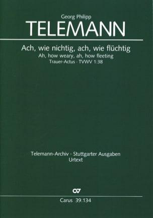 Trauer Actus Tvwv 1-38 - Georg Philipp Telemann - laflutedepan.com