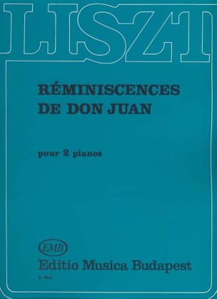 Réminiscences de Don Juan. 2 Pianos LISZT Partition laflutedepan