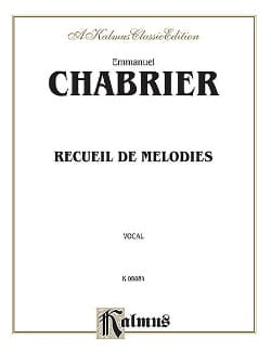 Emmanuel Chabrier - Melodies Collection - Sheet Music - di-arezzo.com