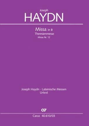HAYDN - Theresienmesse Hob 22-12 - Sheet Music - di-arezzo.co.uk