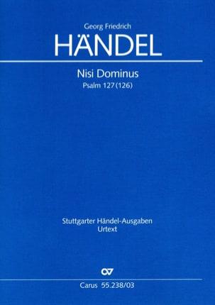 Nisi Dominus HWV 238 - Georg-Friedrich Haendel - laflutedepan.com