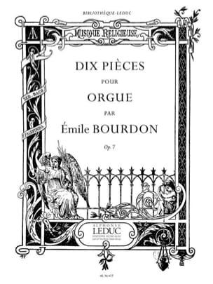 Emile Bourdon - 10 Pièces Opus 7 - Partition - di-arezzo.fr